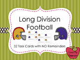 Long Division Task Cards (Football)