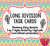 Long Division Task Cards (Robot)