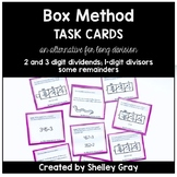 Long Division Task Cards: The Box or Area Method