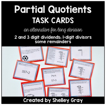 Partial Quotient Division Centers Teaching Resources Teachers Pay