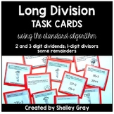 Long Division Task Cards: The Standard Algorithm (Traditio