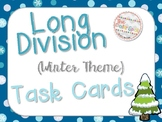 Long Division Task Cards (Winter Theme)