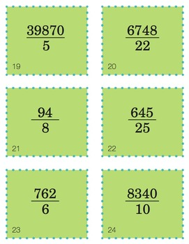 Long Division Task Cards with QR Codes (Optional!)