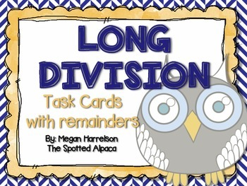 Long Division Task Cards with Remainders