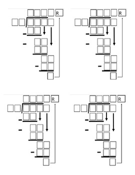 Long Division Templates [Editable]