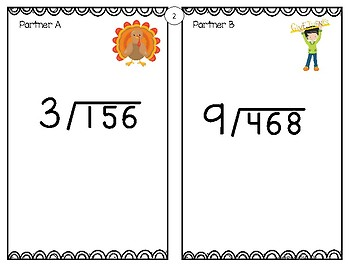 Long Division - Thanksgiving Themed Game