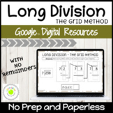 Long Division (The Grid Method) with No Remainders Digital Activities