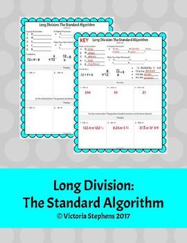 Long Division: The Standard Algorithm