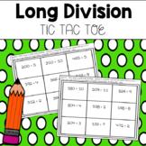 Long Division Tic Tac Toe