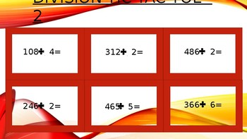 Long Division Tic Tac Toe