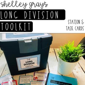 Long Division Tool Kit: Long Division Station and Task Cards (BUNDLE)