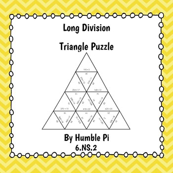 Long Division Triangle Puzzle- 6.NS.2