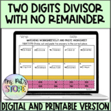 Long Division-Two digits divisor with no remainder matchin