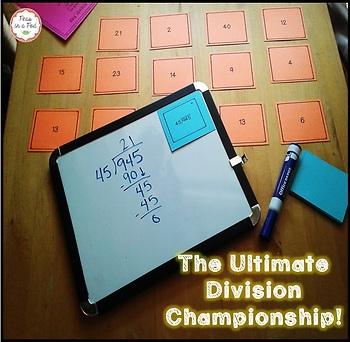 Long Division Math Games | Math Centers | Math Test Prep | 4th, 5th, & 6th Grade