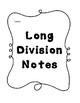 Long Division Unit Bundle