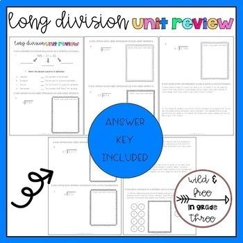 Long Division Unit Review