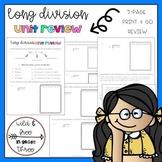 Long Division Print & Go Unit Review
