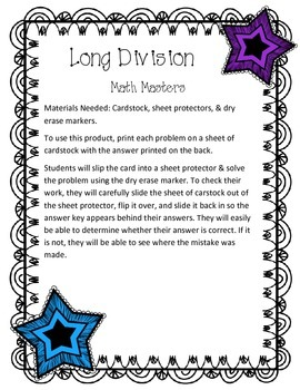 Long Division Up to 4-Digits {Math Masters}