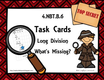 Long Division - What's Missing? {Math Task Cards}