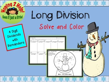 Long Division Winter Activity