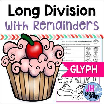 Long Division With Remainders Cupcake Glyph