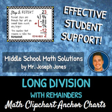 Long Division With Remainders: DIY Math Anchor Chart CLIPCHART