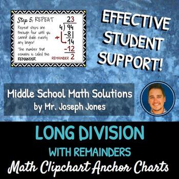 Long Division With Remainders: DIY Math Anchor Chart CLIPCHART