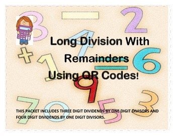 Long Division With Remainders Using QR Codes