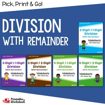 Long Division With Remainders Worksheets With Answer Keys