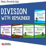 Long Division Challenge Worksheets With Remainder
