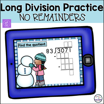 Long Division Without Remainders - Boom Cards