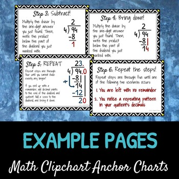 Long Division Without Remainders: DIY Math Anchor Chart CLIPCHART