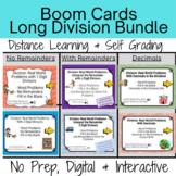 Long Division Word Problem Boom Card Bundle- Distance Lear