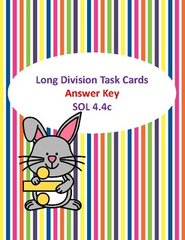 Long Division Word Problem Task Cards