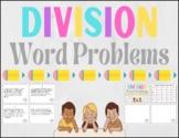 Long Division Word Problem Task Cards (1 digit divisor)