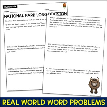 Long Division Word Problems