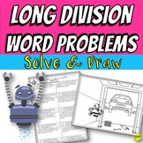 Long Division Word Problems Color By Answer Practice