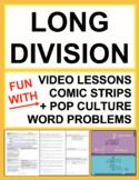 Long Division Word Problems - Pop Culture No Prep Lesson Plan