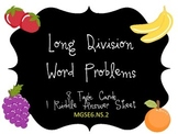 Long Division Word Problems Practice
