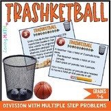 Long Division Game - Word Problems with Multiple Steps - TRASHKETBALL