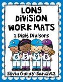 Long Division Work Mats 1 Digit Divisors