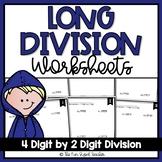 Long Division Worksheets - 4 Digit by 2 Digit (3 Levels)