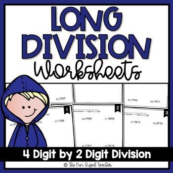 Long Division Worksheets - 4 Digit by 2 Digit (3 Levels)   TpT