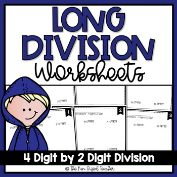 Long Division Worksheets - 4 Digit by 2 Digit (3 Levels)