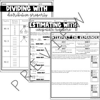 Long Division Worksheets [4th Grade]