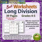 Best Long Division Worksheets Beginning Levels