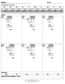 Long Division Worksheets (Division Tutor Set C Grayscale)