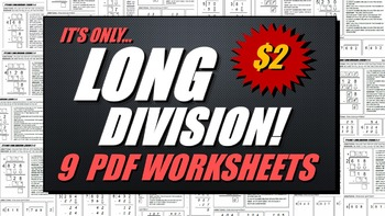 Long Division Worksheets (Set 1)