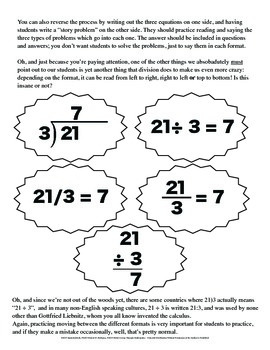Long Division and Division: Take My Word For It, You're Teaching It Wrong