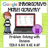 Divide Whole Numbers Google Classroom Interactive Activity TEKS 4.4H 4.4E 4.4F